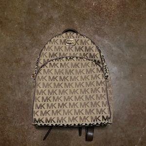 Michael Kors MK Tan Backpack